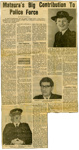 Newspaper article, 'Mataura's Big Contribution to Police Force'; The Southland Times; 1970; MT2015.23