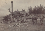 Photograph [Traction Engine and Threshing Crew]; Phillips Bros. (Invercargill); 1900s-1920s; MT2011.185.378