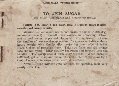 Cookery book: Home Made Sweets Recipes. A small co...