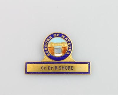 Badge, Mataura Borough Council; unknown maker; 1911; MT2000.166.5.5
