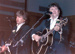 EVERLY BROTHERS ON STAGE AT FAIRFIELD HALLS CROYDON BELIEVED TO BE MAY 1989 - PHOTO BY PETER BOXELL; MAY 1989; 198905HA EVERLY