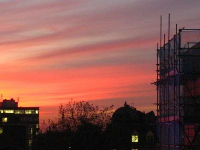 PHOTO CROYDON SUNSET; NOV 2005; 200511FC
