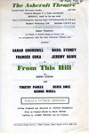 FLYER ASHCROFT THEATRE FROM THIS HILL HENRY AUDLEY; APR 1963; 196304BC