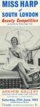 LEAFLET ARNHEM GALLERY MISS HARP LAGER BEAUTY COMPETITION; JUN 1964; 196406GA MISS HARP LAGER BEAUTY CONTEST