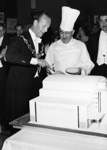 PHOTO FAIRFIELD OPENING CAKE; NOV 1962; 196211HA