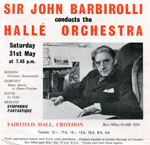 FLYER CLASSICAL HALLE ORCHESTRA JOHN BARBIROLLI; MAY 1969; 196905FA