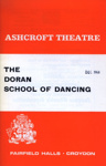 PROGRAMME ASCHROFT THEATRE THE DORAN SCHOOL OF DANCING; DEC 1968; 196812BK