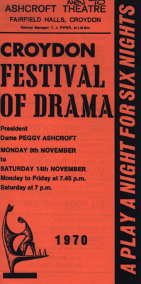 CROYDON FLYER FESTIVAL OF DRAMA; NOV 1970; 197011BB