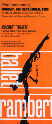 FLYER BALLET RAMBERT; SEP 1965; 196509BC