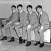 THE BEATLES AT FAIRFIELD HALLS, CROYDON, APRIL 25TH 1963; APR 1963; 144705375 backstage group Beatles 25th April 1963 Fairfield Halls Croydon