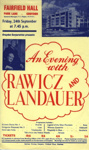 FLYER CLASSICAL RAWICZ AND LANDOWER; SEP 1965; 196509BM