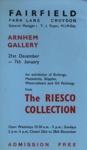 FLYER EXHIBITION RIESCO COLLECTION; DEC 1964; 196412BI