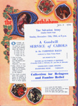 PROGRAMME SONG SHEET SALVATION ARMY CROYDON CITADEL; DEC 1964; 196412BE