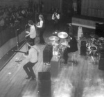 PHOTO THE ROLLING STONES AT FAIRFIELD HALLS ON 12TH APRIL 1964; APR 1964; 196404LQ ROLLING STONES FAIRFIELD HALLS CROYDON