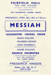 FLYER CLASSICAL GOLDSMITHS' CHORAL UNION HANDEL MESSIAH; APR 1963; 196304FC