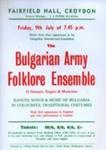 FLYER BULGARIAN ARMY FOLKLORE ENSEMBLE; JUL 1965; 196507BI