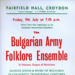 FLYER BULGARIAN ARMY FOLKLORE ENSEMBLE; JUL 1965; 196507BI