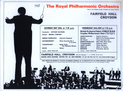 FLYER ROYAL PHILHARMONIC ORCHESTRA ARTHUR DAVIDSON; MAY 1967; 196705BK