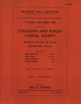 PROGRAMME CLASSICAL COULSDON AND PURLEY CHORAL SOCIETY; APR 1966; 196604BA
