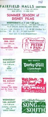FLYER FILMS WALT DISNEY; JUL 1967; 196707BI