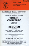 FLYER CROYDON PHILHARMONIC SOCIETY MYERS FOGIN; MAR 1971; 197103BB