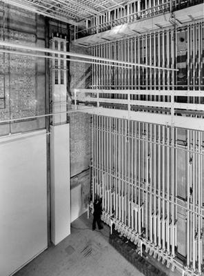 PHOTO FAIRFIELD HALLS STAGE CONTROLS; NOV 1962; 196211JX