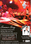 GOSPEL MUSIC FESTIVAL - FLYER; JUN 2014; 201406NA