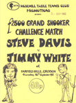 PROGRAMME SNOOKER GRAND CHALLENGE MATCH STEVE DAVIS JIMMY WHITE; SEP 1982; 198209FC