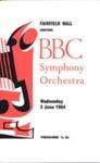 PROGRAMME CLASSICAL BBC SYMPHONY ORCHESTRA; JUN 1964; 196406BG