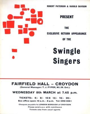FLYER SWINGLE SINGERS; MAR 1967; 196703BI