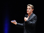 PHOTO - EDDIE IZZARD AT THE CPFC COMEDY NIGHT AT FAIRFIELD ; JUL 2014; BC201407