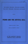 PROGRAMME CROYDON BOYS BRIGADE GIRLS BRIGADE PEDRO AND THE CRYSTAL BALL; DEC 1969; 196912BG