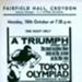FLYER FILM TOKYO OLYMPICS; OCT 1966; 196610BQ