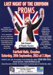 LAST NIGHT OF THE CROYDON PROMS - LEAFLET; SEP 2013; 201309NF