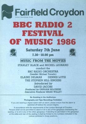 PROGRAMME BBC RADIO FESTIVAL OF MUSIC; JUN 1986; 198606FC