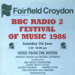 PROGRAMME BBC RADIO FESTIVAL OF MUSIC; JUN 1986; 198606FC