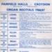 FLYER CLASSICAL ORGAN RECITALS; OCT 1966; 196610BI