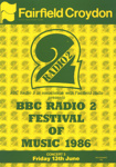 PROGRAMME BBC RADIO 2 FESTIVAL OF MUSIC; JUN 1986; 198606FA