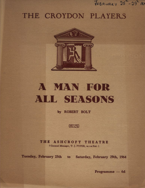 a man for all seasons play A man for all seasons summary robert bolt a man for all seasons  robert bolt's play a man for all seasons is based on the life of sir thomas more, chancellor .