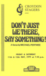 PROGRAMME THEATRE CROYDON STAGERS MICHAEL PERTWEE; MAY 1979; 197905FC