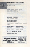 PROGRAMME ASHCROFT THEATRE WILFRED PICKLES GAS LIGHT; APR 1968; 196804BO
