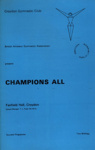 PROGRAMME GYMNASTICS CLUB; OCT 1969; 196910BB