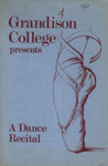 PROGRAMME GRANDISON COLLEGE DANCE RECITAL; JUN 1968; 196806BI