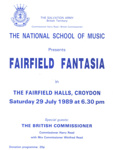 PROGRAMME MUSIC NATIONAL SCHOOL OF MUSIC; JUL 1989; 198907FA