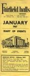 FAIRFIELD DIARY JANUARY 1967; JAN 1967; 196701BC