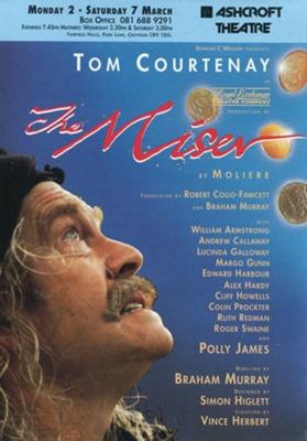 FLYER - THEATRE - THE MISER; MAR 1992; 199203MC