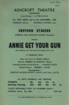 FLYER CROYDON STAGERS ANNIE GET YOUR GUN; DEC 1963; 196312BE