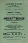 FLYER CROYDON STAGERS ANNIE GET YOUR GUN; DEC 1963; 196312BE