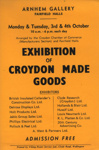 FLYER EXHIBITION OF CROYDON MADE GOODS; OCT 1966; 196610BW