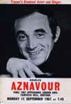 FLYER CHARLES AZNAVOUR; SEP 1967; 196709BQ